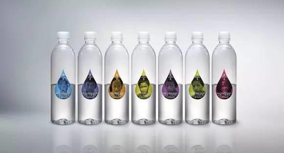 创意矿泉水包装:只卖半瓶水